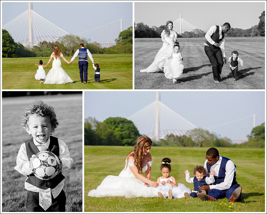 Wedding Photographs in evening sunshine
